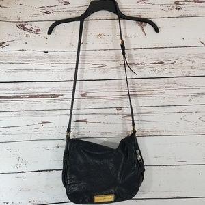 Marc Jacobs Black Leather Crossbody Bag Handbag